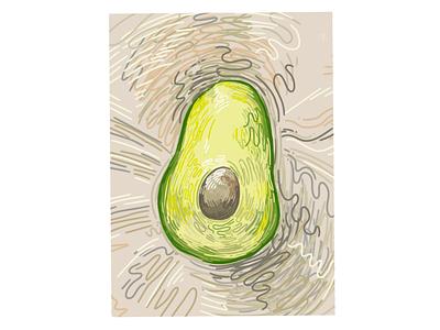 Avocado graphic illustration avocado autodesk sketchbook