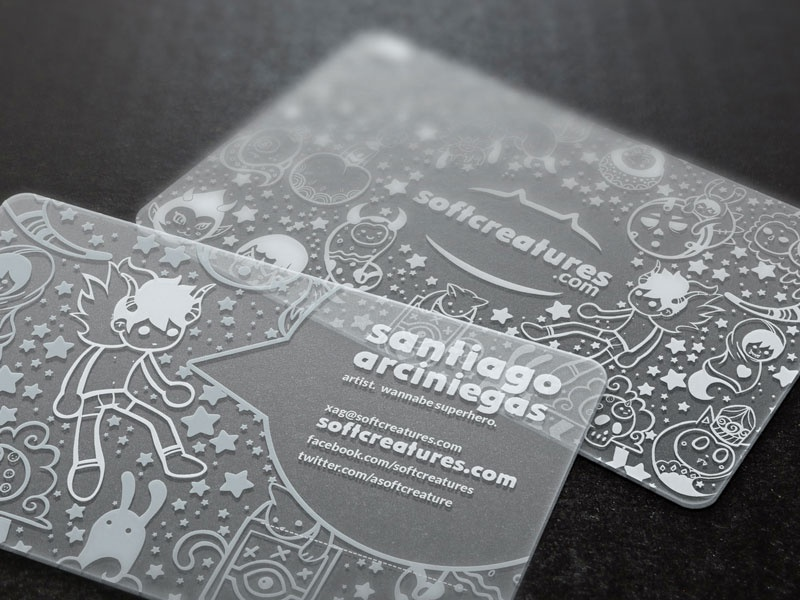 Translucent Business Cards Mockup by Santiago A. - Dribbble