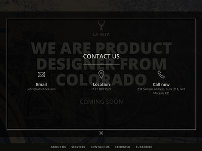 La Veta Contact Us design website web ux ui