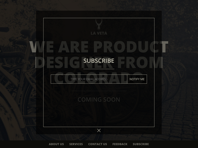 La Veta Subscribe design website web ux ui
