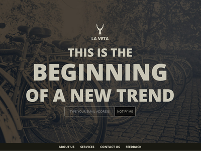 La Veta Home Newsletter logo website web ux ui