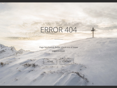 404 page concept - RIP in desert.