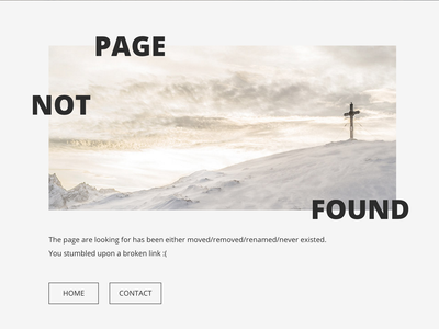 Page not found concept - RIP in desert.