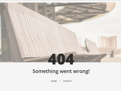 404 page concept - lost in lakeside.