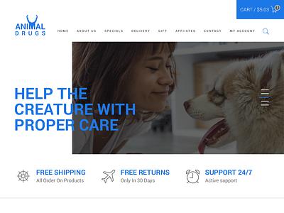 Drug Selling Site web template website web ux ui