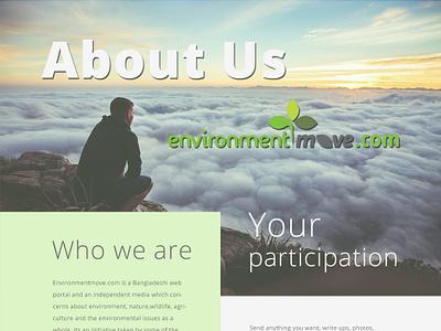 Environment Move design web template website web ux ui