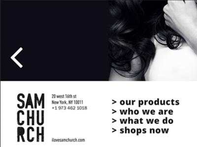 Contest project for Samchurch web template design website web ux ui