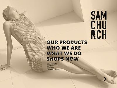Contest for Samchurch web template design website web ux ui