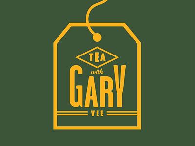 Tea With Gary Vee vintage entrepreneur badge retro thick lines logo gary tea vaynerchuk gary vee