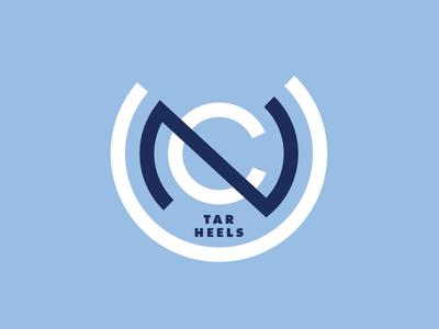 Tar Heels thick lines logo sports design sports icon tar heels ncaa college basketball unc
