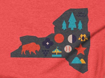 Upstate Icons - AIGA cooperstown finger lakes catskills adirondacks rochester buffalo simple icons new york upstate new york upstate ny upstate