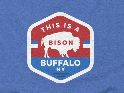 This is a Bison - Buffalo NY american bison tshirt badge western new york wny sports bison upstate ny new york upstate buffalo buffalo ny