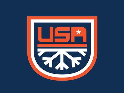 USA Winter Olympics Badge