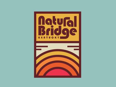 Natural Bridge State Resort Park hiking retro logo badge thick lines state park outdoors apparel design kentucky natural bridge