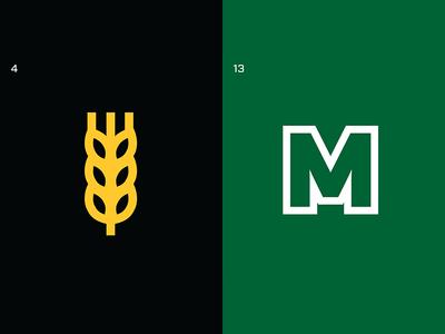 March Madness Minimal - Day 2 marshall thick lines sports logos sports design sports minimalist logo march madness logos wichita college basketball basketball