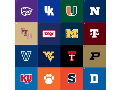 Sweet 16 - March Madness Minimal basketball march madness thick lines sports logos college basketball ncaa sports design logo design flat design simple minimal
