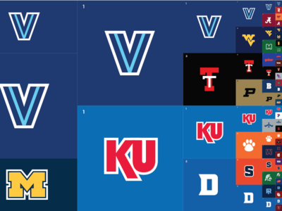 March Madness Minimal - Right Side ncaa basketball sports infographic infographic bracket minimal flat design sports college basketball march madness