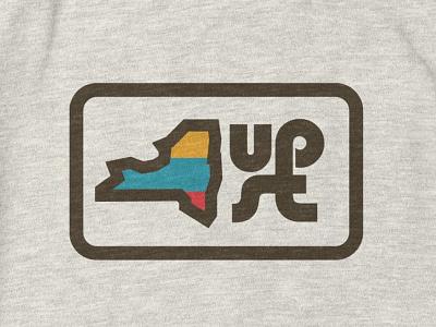 Upstate of Mind flat design shop threadless merch new york thick lines tshirt shirt apparel upstate ny aiga upstate