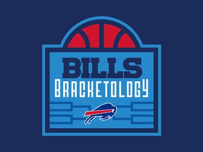 Bills Bracketology sports design sports logo college basketball logo bracket thick lines basketball football nfl buffalo buffalo bills