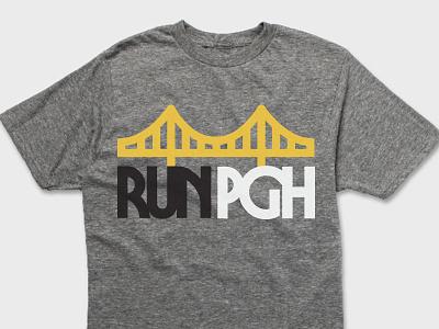 RUN PGH Apparel retro thick lines pennsylvania tshirt apparel bridge runner running marathon pittsburgh marathon run pgh pittsburgh