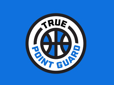 True Point Guard Logo youth sports point guard sports vintage retro badge thick lines sports logo sports design aau basketball logo logo design
