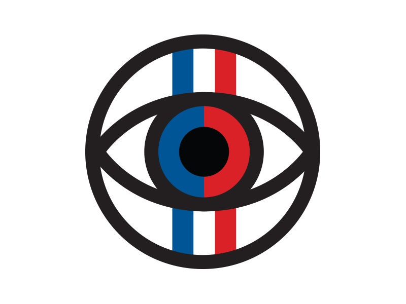 Racer Eye simple icon eye racing race car stripes retro thick lines racer