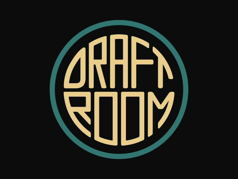 Draft Room retro vintage labatt craft beer logo art deco brewery logo brewery beer buffalo