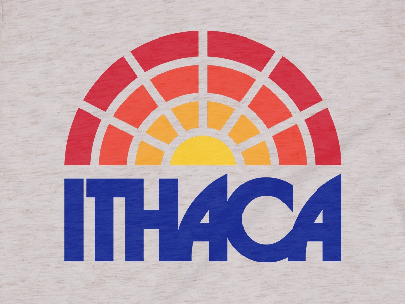 Ithaca New York thick lines vintage retro sunset waterfalls hiking camping upstate new york upstate ithaca