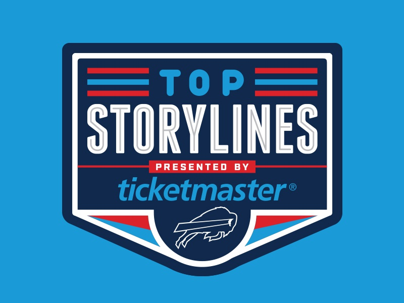 Top Storylines - Buffalo Bills flat broadcast logo stripes badge design ticketmaster logo nfl football sports logo buffalo bills sports design sports buffalo