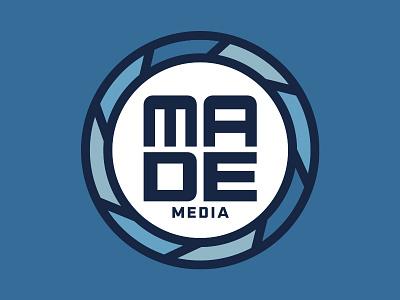 MADE Custom Media simple logo flat  design simple design blue custom logo video logo photography branding photography logo made logo buffalo thick lines logo design