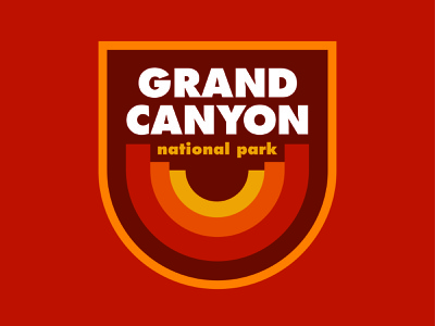 Grand Canyon National Park vintage outdoors sticker outdoors patch national parks retro badge retro patch cap patch grand canyon badge retro thick lines