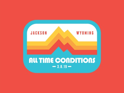 All Time Conditions - Wedding Patch vintage patch vintage badge grand tetons colorful jackson hole ski patch vintage wedding patch wedding mountain wedding mountains patch badge retro thick lines