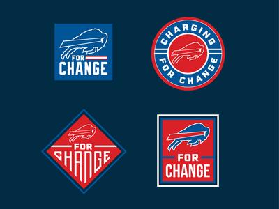 Buffalo Bills for Change Badge Design