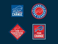 Buffalo Bills for Change Badge Design