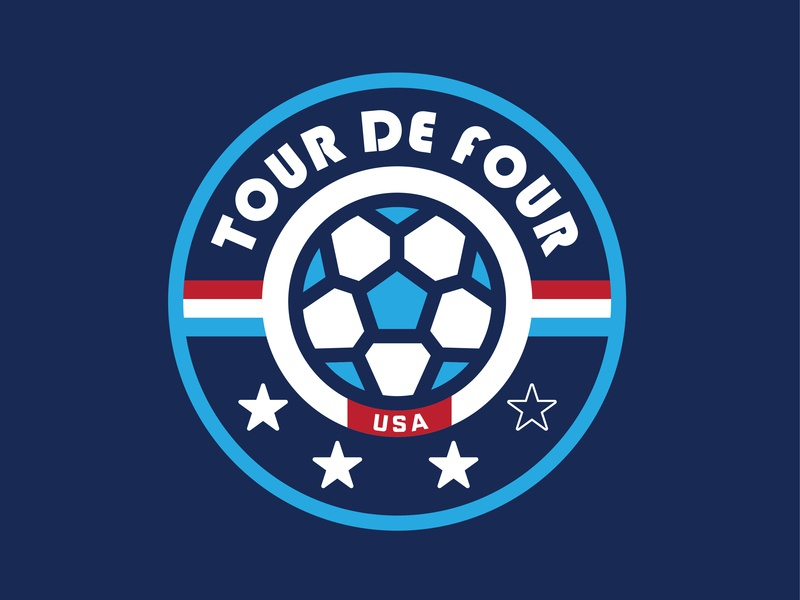 Women's World Cup - Tour De Four sports apparel sports logo sports football thick lines tshirt patch logo badge apparel womens soccer team usa soccer womens world cup world cup 2019 world cup