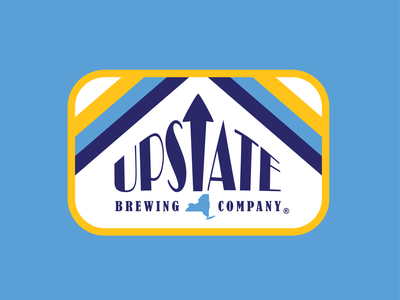 Upstate Brewing Company tshirt brewery shirt craft beer beer elmira upstate ny upstate apparel design brewery apparel brewery badge retro thick lines logo