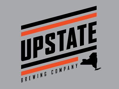 Upstate Brewing Company Apparel Design tshirt brewing elmira badge retro thick lines logo apparel design beer brewery upstate ny upstate
