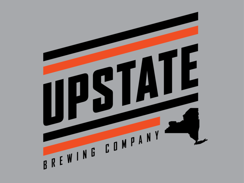 Upstate Brewing Company Apparel Design tshirt brewing elmira badge retro thick lines logo apparel design beer brewery upstate ny upstate
