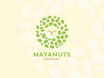 """ nuts is very good for stomach"" MAYANUTS adobe illustration logo food logo design logo branding eating foods foodlogo nuts"