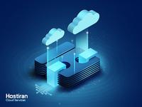 Cloud services cloud isometric illustration isometric design digital vector illustration