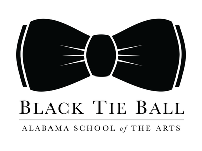 Black Tie Ball Logo - Alabama School of the Arts vector branding logo
