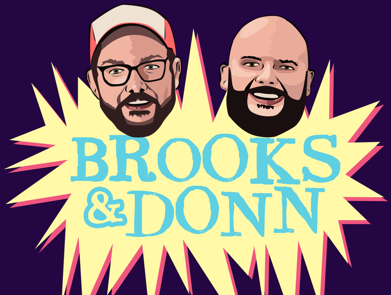 Brooks & Donn Podcast Artwork cartoon illustration illustration podcast art