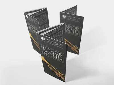 University of Mobile Honor Band Brochures - 2018 graphic design brochure