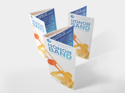 University of Mobile Honor Band Brochures - 2017 graphic design brochure