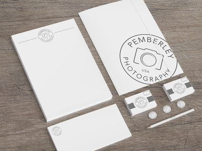 Pemberley Photography Logo photography branding logo