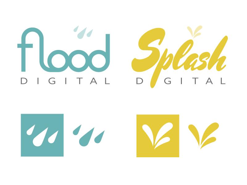 Flood/Splash Branding logo branding