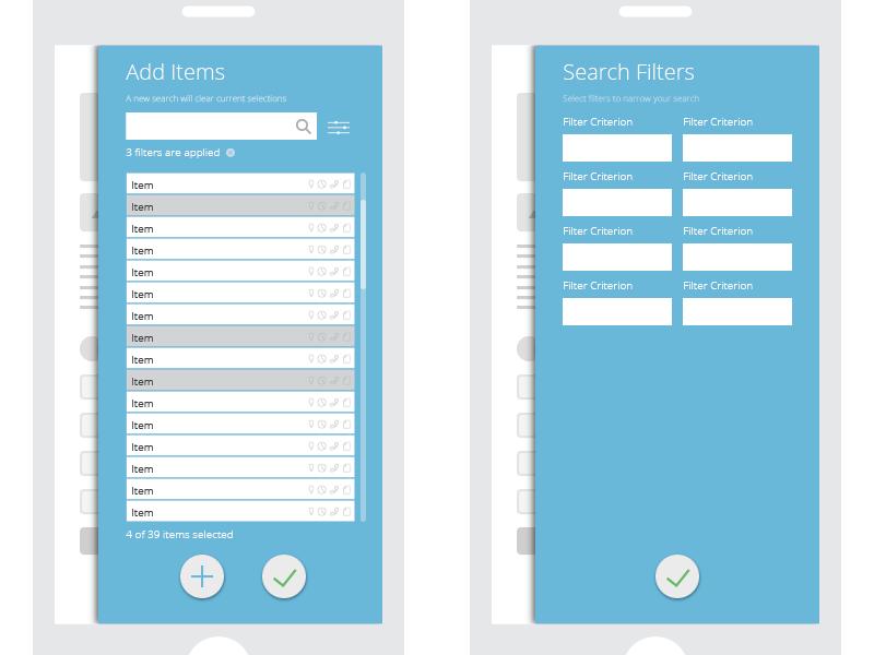 Modal Sheet ui mobile flat app