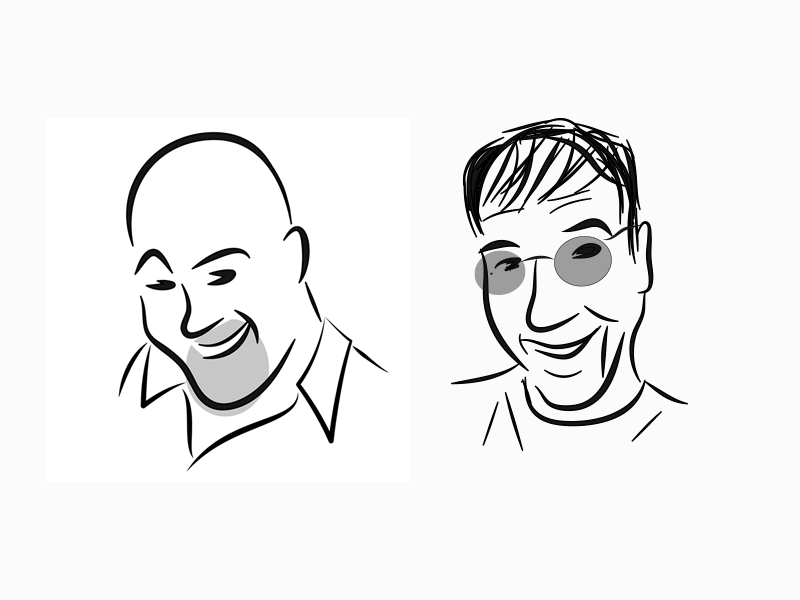 Me and Ken faces people avatar illustration