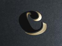 thecnnkt logomark foil logo logomark icon mockup