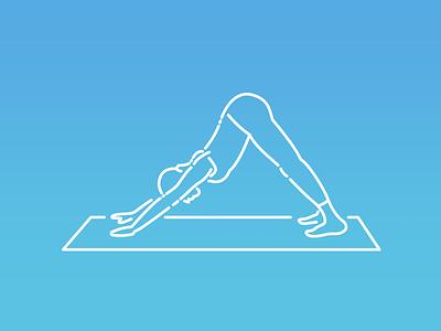 Yoga Poses: Adho Mukha Shvanasana (downward facing dog yoga mat exercise downward facing dog stretching yoga practice yoga pose pose yoga